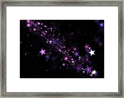 Beautiful Stars Particles Background Framed Print