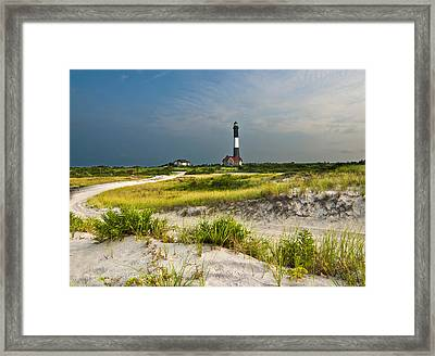 Beautiful Sunrise At The Fire Island Lighthouse Framed Print by Vicki Jauron