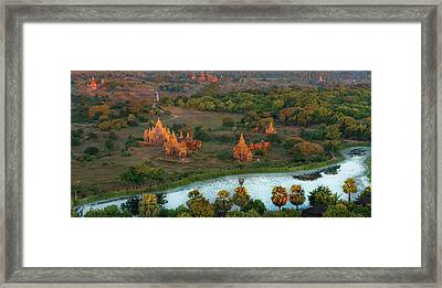 Framed Print featuring the photograph Beautiful Sunrise In Bagan by Pradeep Raja Prints