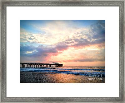 Beautiful Sunrise In Myrtle Beach South Carolina Usa Framed Print