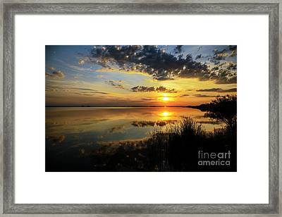 Beautiful Sunset At The Lake Framed Print