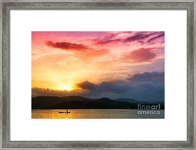 Beautiful Sunset Framed Print