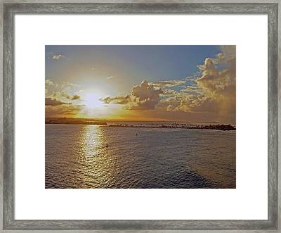 Framed Print featuring the photograph Beautiful Sunset by Gary Wonning