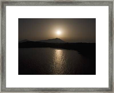 Framed Print featuring the photograph Black And White Orange Nature Landscape Art Work Photography by Artecco Fine Art Photography