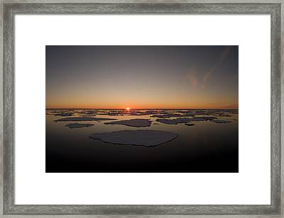 Beautiful Sunset Over An Arctic Ice Framed Print by Norbert Rosing