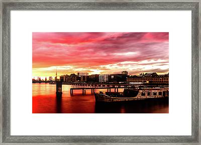 Beautiful Sunset Over Berlin Framed Print