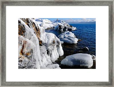 Beautiful Superior Ice Framed Print
