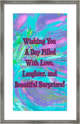 Beautiful Surprises Framed Print