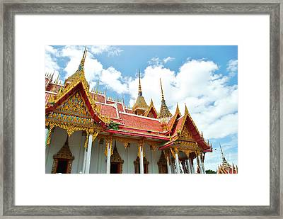 Beautiful Temple Framed Print by Somchai Suppalertporn