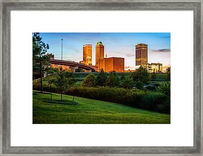 Beautiful Tulsa Oklahoma - Central Park Framed Print by Gregory Ballos