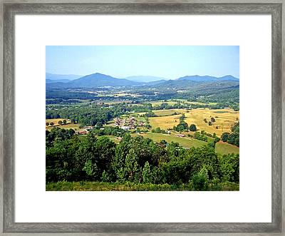 Beautiful Valley Framed Print by Tom Zukauskas
