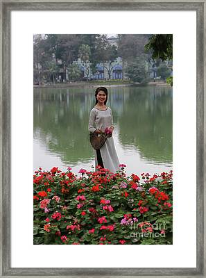 Beautiful Vietnamese Woman Framed Print