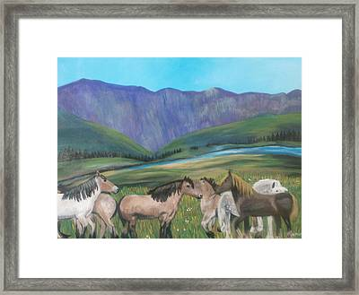 Beautiful View Framed Print by Aleta Parks