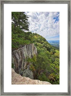 Beautiful View From Sunset Rock On Lookout Mt.  View From Sunset Rock 2 Framed Print