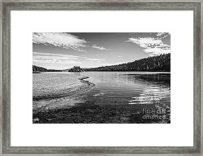 Beautiful View Of Fannette Island On Lake Tahoe. Framed Print by Jamie Pham