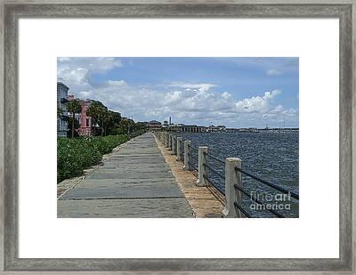 Beautiful Waterfront Walkway Framed Print