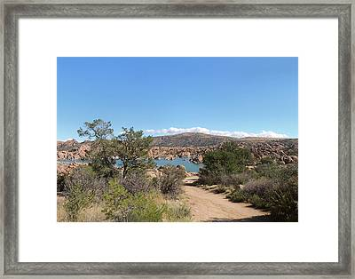 Framed Print featuring the photograph Beautiful Watson Lake by Gordon Beck