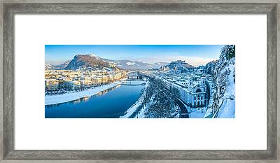 Beautiful Winter Day In Snowy Salzburg Framed Print by JR Photography