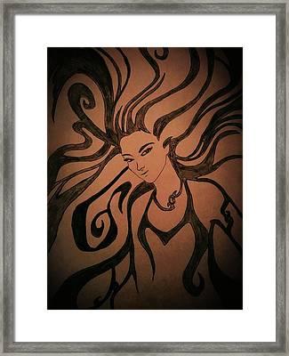 Beautiful Witch Framed Print by Kiran Kumar