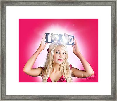 Beautiful Woman In Love With The Beauty In Nature Framed Print by Jorgo Photography - Wall Art Gallery