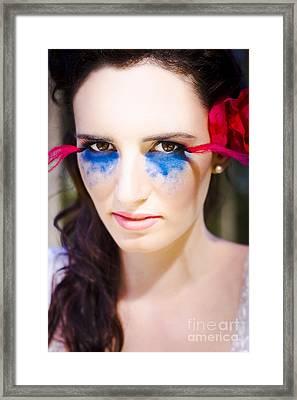 Beautiful Woman Framed Print by Jorgo Photography - Wall Art Gallery