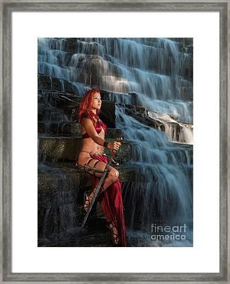 Beautiful Woman Warrior Framed Print by Oleksiy Maksymenko