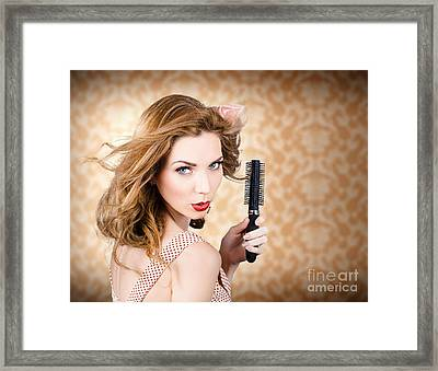 Beautiful Woman With Short Red Hair. Hairdressing Framed Print by Jorgo Photography - Wall Art Gallery