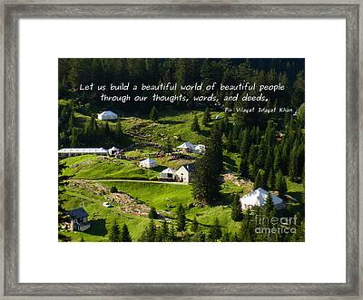 Beautiful World Of Beautiful People  Framed Print