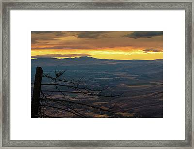 Beautiful Yakima Dawn Framed Print by Ron Day