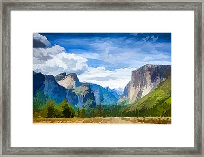 Beautiful Yosemite National Park Framed Print by Lanjee Chee