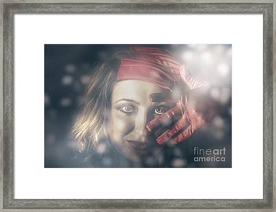 Beautiful Young Party Girl Dancing At A Rave Disco Framed Print by Jorgo Photography - Wall Art Gallery