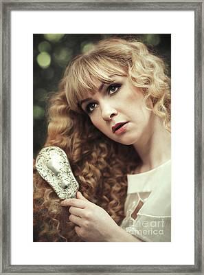 Beautiful Young Woman  Framed Print by Amanda Elwell