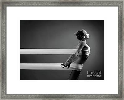 Beautiful Young Woman Framed Print
