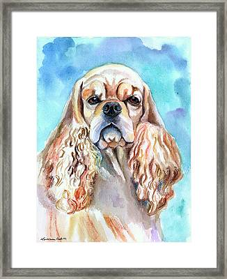 Beauty - American Cocker Spaniel Framed Print by Lyn Cook