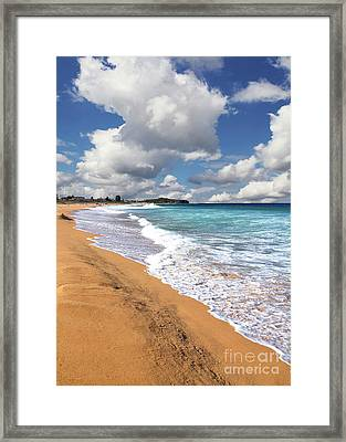Beauty And The Beach By Kaye Menner Framed Print