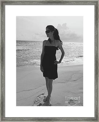 Beauty And The Beach Framed Print by Megan Cohen