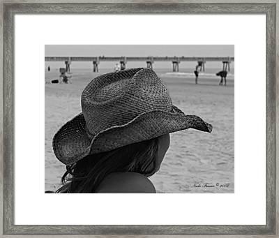 Beauty And The Beach  Framed Print