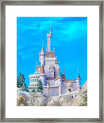 Beauty And The Beast Castle Framed Print by Mark Andrew Thomas
