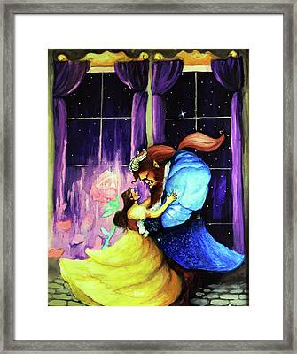 Beauty And The Beast Framed Print by Chris Bahn