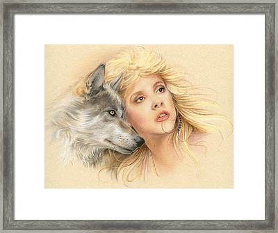 Beauty And The Beast Framed Print by Johanna Pieterman