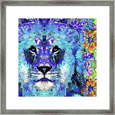 Beauty And The Beast - Lion Art - Sharon Cummings Framed Print by Sharon Cummings