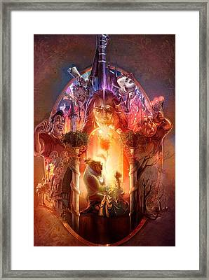 Beauty And The Beast  Framed Print by Oscar Benero Lopez