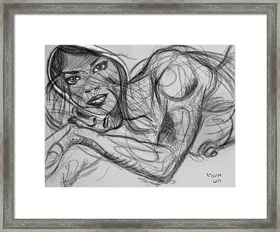Beauty And The. Beast Framed Print by Ricardo Mester