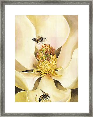 Beauty And The Bees Framed Print