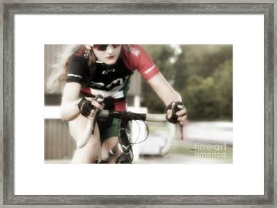 Beauty And The Bike  Framed Print by Steven Digman