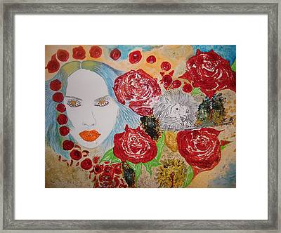 Beauty And The Lion Framed Print