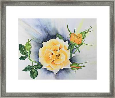 Beauty And The Weed Framed Print