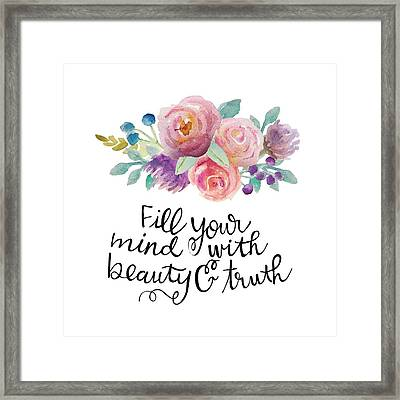 Beauty And Truth Framed Print by Nancy Ingersoll