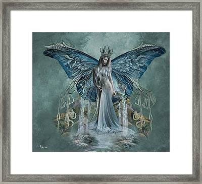 Beauty At Butterfly Falls Framed Print by Ali Oppy