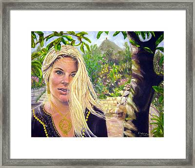Beauty At Chalice Well Framed Print